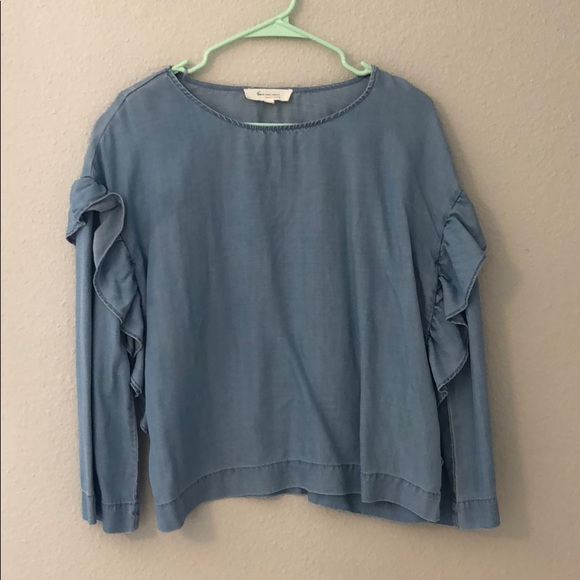 Nordstrom Tops - Vince Camuto Ruffle Sleeve Top